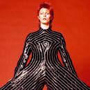 Striped bodysuit for Aladdin Sane tour Striped bodysuit for Aladdin Sane tour 1973.  Design by Kansai Yamamoto Photograph by Masayoshi Sukita © Sukita The David Bowie Archive 2012