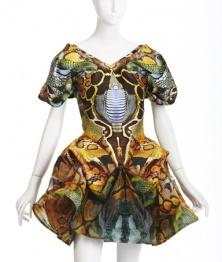 Alexander McQueen, Dress, Spring 2010. Printed. Lent to Phoenix Art Museum by Suzy Kellems Dominik.