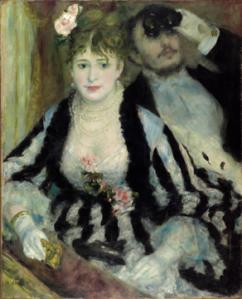 Pierre-Auguste Renoir. The Loge, 1874. The Courtauld Gallery, London, The Samuel Courtauld Trust, P.1948.SC.338.