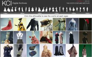 Kyoto Costume Institute Archive Web Page