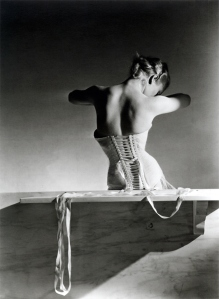 Mainbocher Corset (pink satin corset by Detolle), Paris, 1939. © Condé Nast/Horst Estate