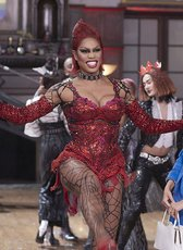 Laverne Cox as Dr. Frank N. Furter, The Rocky Horror Picture Show: Let's Do the Time Warp Again, 2016. Photograph courtesy FOX Broadcast Company